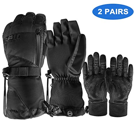 5ee45cfe8fbd7 OutdoorMaster Ski Gloves - Waterproof Ski and Snowboard Gloves with  Non-Slip Rubber Palms,