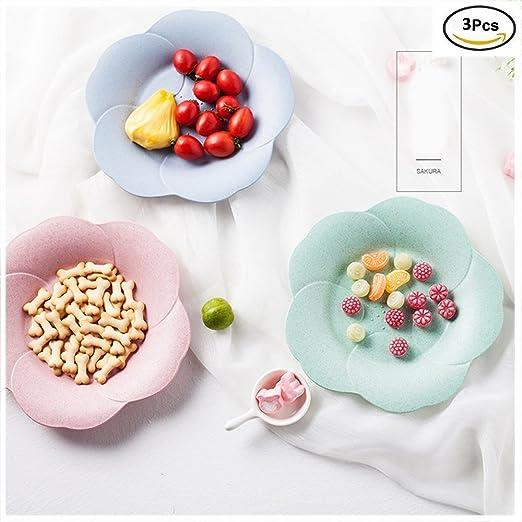 yookoon 3pcs Cherry forma paja de trigo Candy placa arroz carcasa ...