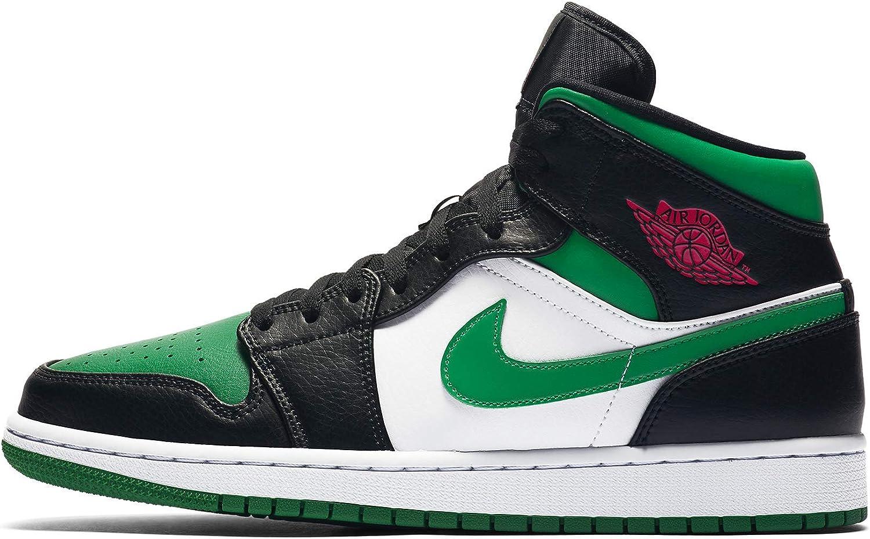 Jordan Mens Air 1 Mid Green Toe 554724 067 - Size 7