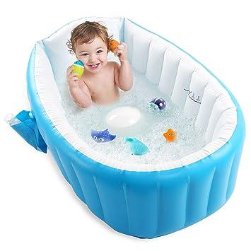 Amazon.com: Bañera inflable para bebé, Pawsky portátil para ...