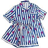 BTS BT21 Bangtan Boys Cartoon Printed Pajamas Two Pieces Set Sleepwear Summer