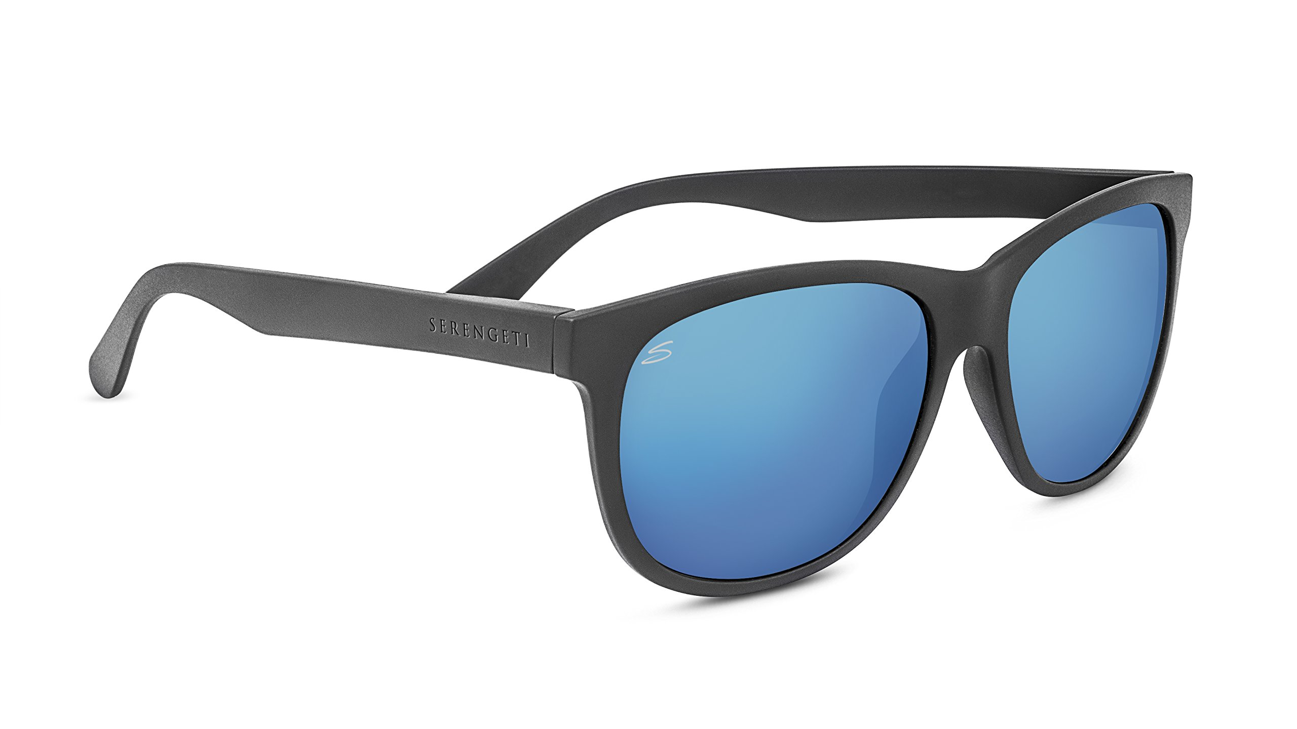 Serengeti 8362 Ostuni Polarized 555NM Sunglasses, Sanded Dark Gray by Serengeti