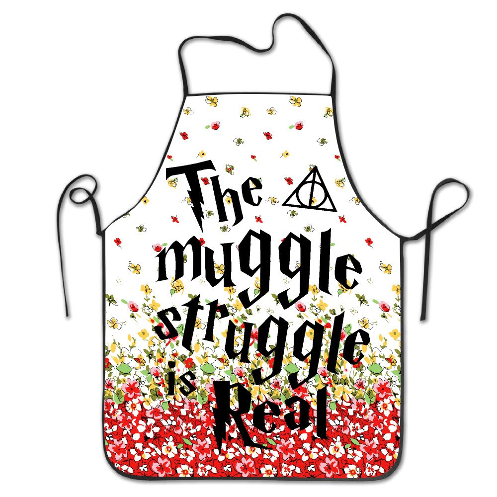 The Muggle Struggle Is Real BBQ Kitchen Cooking Apron HeloiseT
