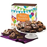 Fairytale Brownies Birthday Magic Morsel 24 Gourmet Food Gift Basket Chocolate Box - 1.5 Inch x 1.5 Inch Bite-Size Brownies - 24 Pieces