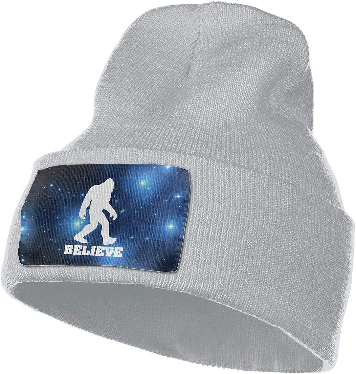 Helidoud I Believe Sasquatch Big Foot Winter Beanie Hat Knit Hat Cap for for Men /& Women