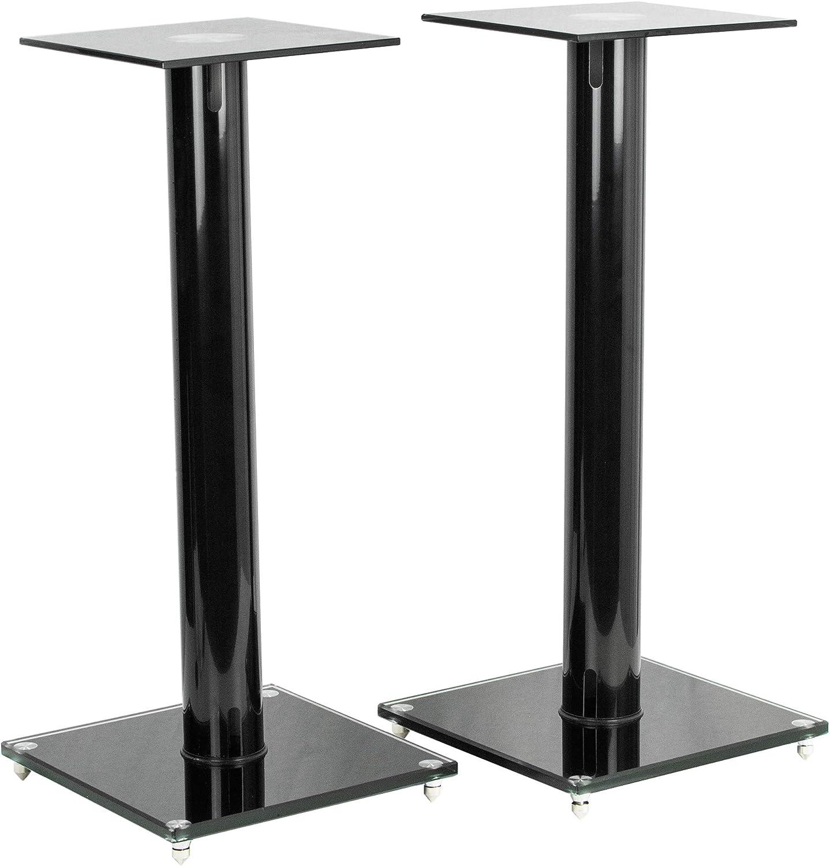 Premium Universal Floor Speaker Stands for Surround Sound /& Book Shelf Speakers