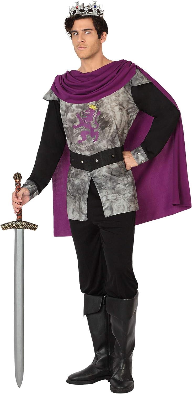 Atosa-26844 Disfraz Rey Medieval, Color plateado, M-L (26844 ...