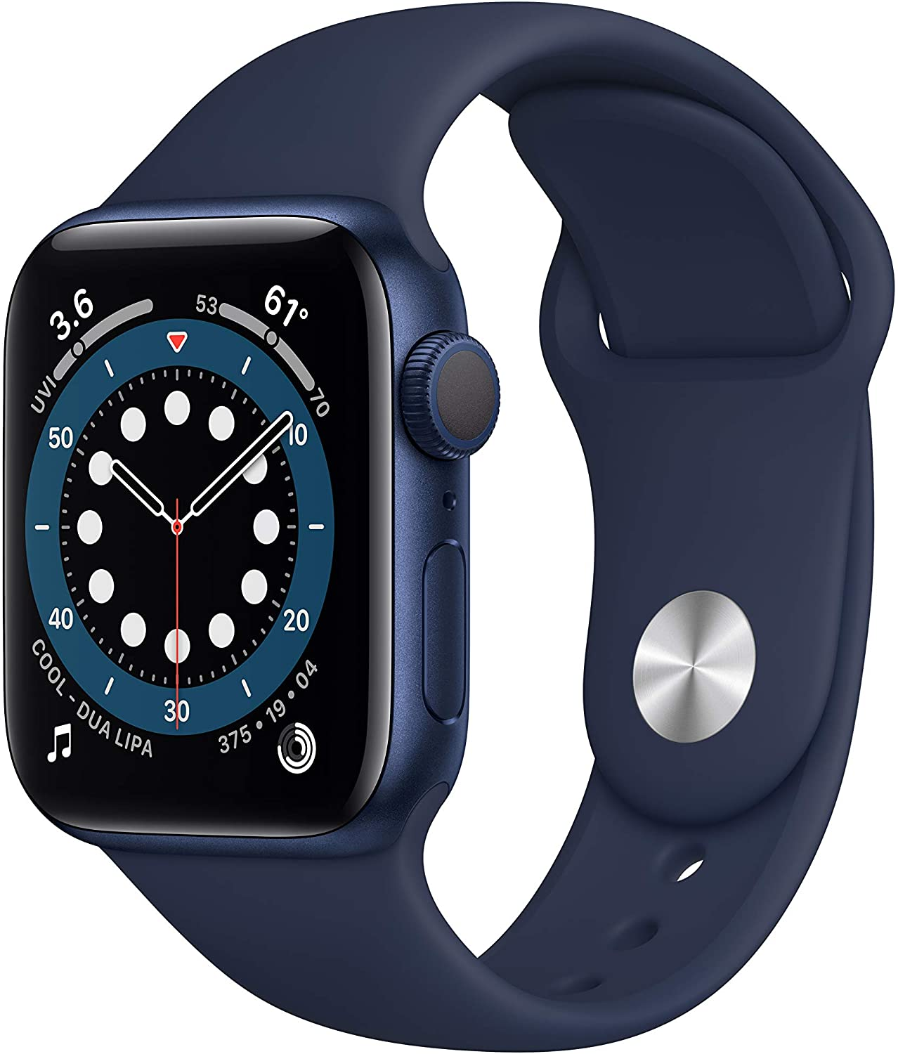 New AppleWatch Series 6 (GPS, 40mm) - Blue Aluminum Case with Deep Navy Sport Band