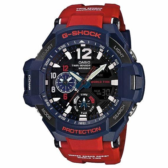 3164fb9da Casio - G-Shock - GRAVITYMASTER Series - Blue Red - GA1100-2A  Casio   Amazon.ca  Watches