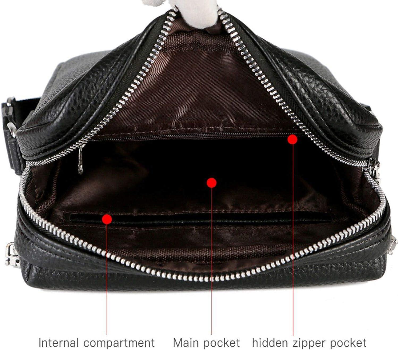 Solid Double Pocket Leather Casual Man Crossbody Bags Vintage Set Series Mens Messenger Bags,set large black