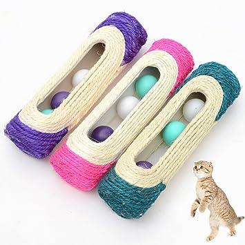 Efanr - Juguetes para gatos con rodillo de sisal rascador ...