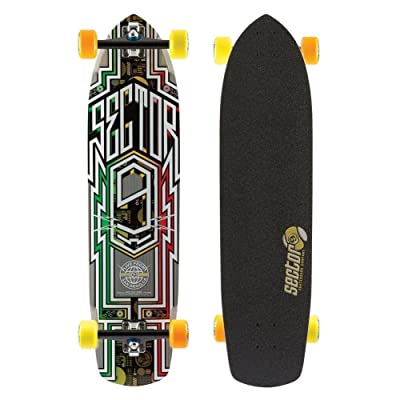 Sector 9 Carbon Flight Complete Skateboard, Rasta : Sports & Outdoors