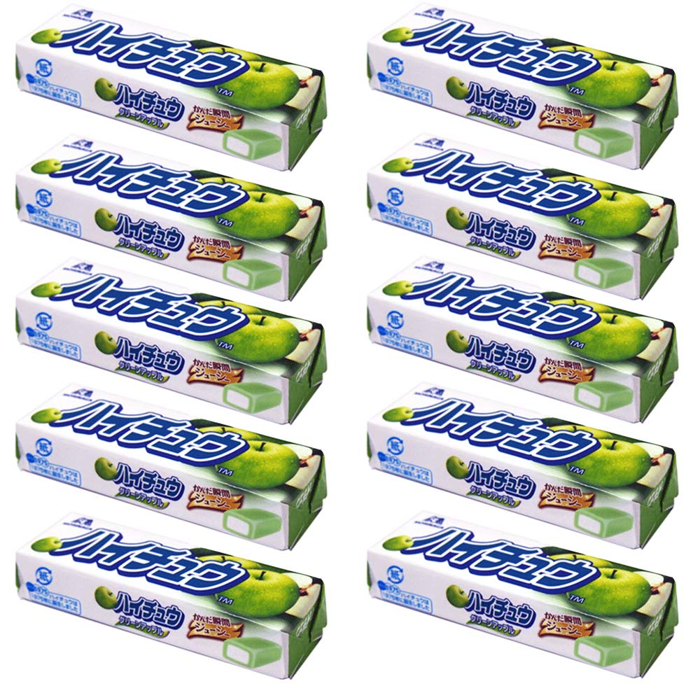 HI-CHEW Green Apple Taste 7pieces 1.2oz × 10pcs Japanese Chewing Candy Morinaga Ninajapo
