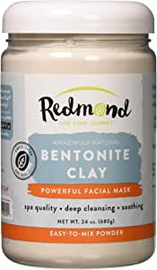 Redmond Clay Bentonite Clay Healing Clay Facial Mask, 680 Grams