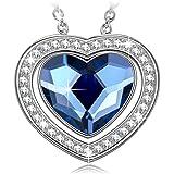 NINASUNハートのネックレス(Crystals from Swarovski)