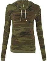 Alternative-Ladies' Eco-Jersey Classic Hooded Pullover T-Shirt-1928