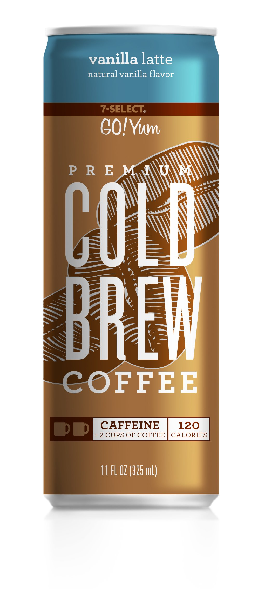 7-Select Premium Cold Brew Coffee-Vanilla Latte, 11 Ounce Cans (12 Pack)