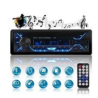 QINFOX Autoradio FM Bluetooth 60W*4 MP3 Stereo per Auto Con Dual Porte USB/Micro SD Ingresso AUX Telecomando Microfono Incorporato, Manuale Italiano in PDF,con pannello rimovibile