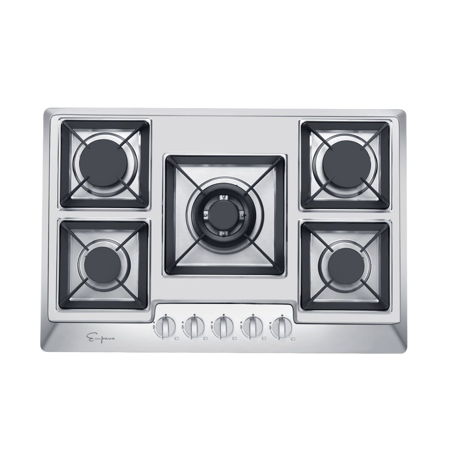 Empava 30'' Stainless Steel 5 Italy Sabaf Burners Stove Top Gas Cooktop EMPV-30GC0A2