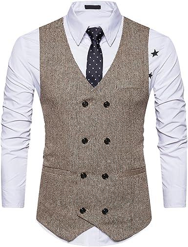 Gilet Costume Veste Sans Waistcoat Slim Formal Mariage Business Vintage Ensemble Manches Parti Suit Oeak Pour Hommes Fit Classique fmYb6g7yvI