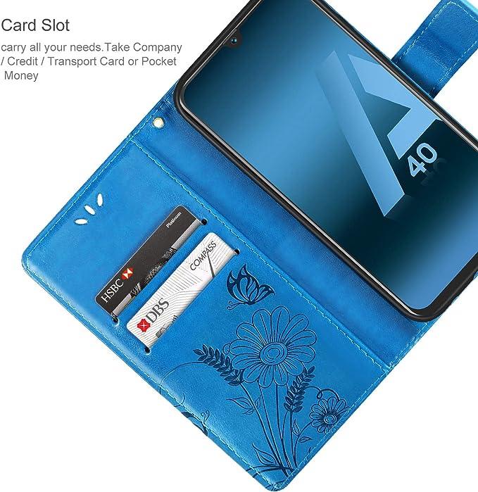 ivencase Coque pour Samsung Galaxy A40, Samsung Galaxy A40 Case PU Leather Etui Portefeuille Flip Magnétique Support Slot de Carte Antichoc Cover pour ...