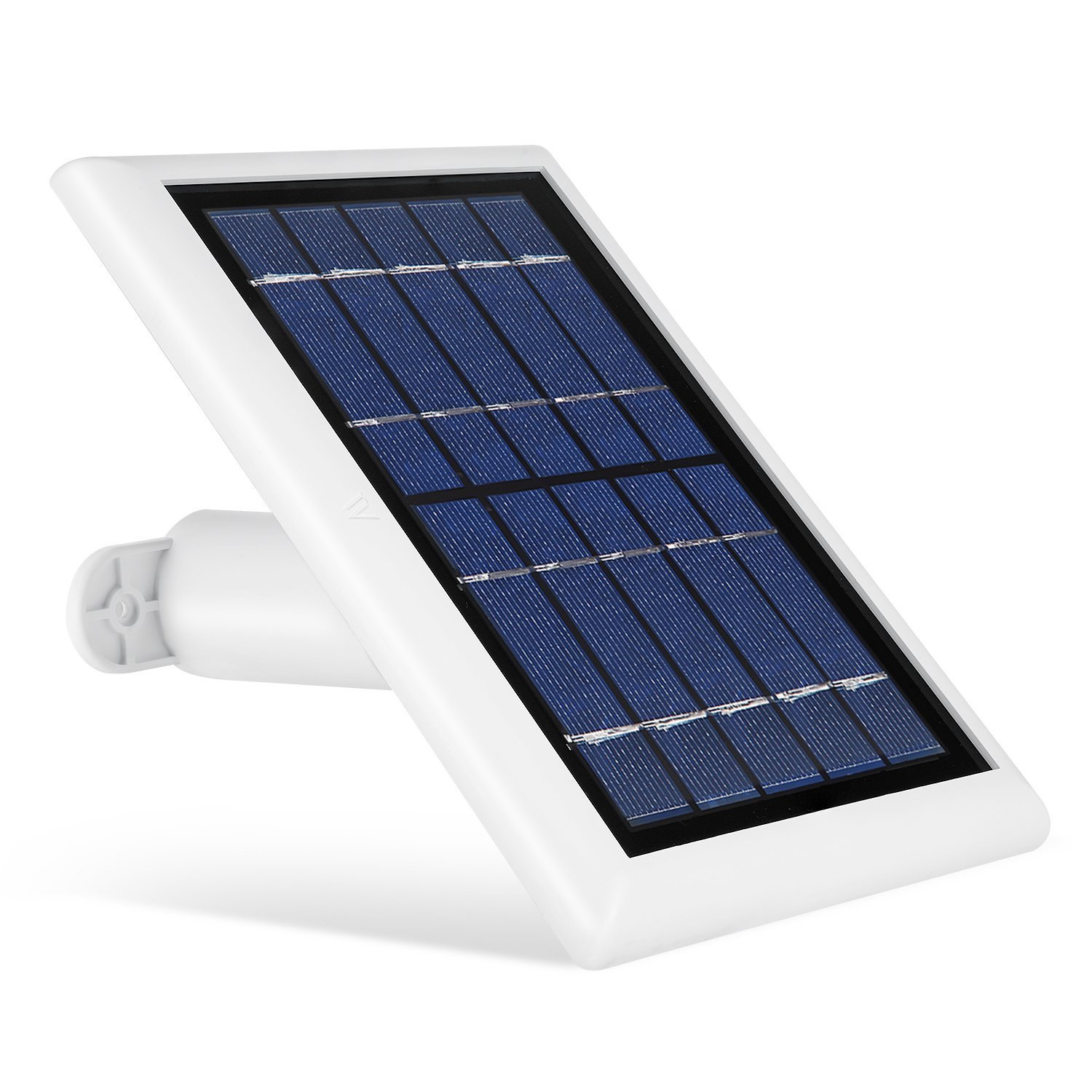 Solar Panel for Ring Spotlight Camera, Power Your Ring Spotlight Cam continuously with Our New Solar Charger - by Wasserstein (White)