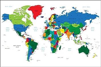 weltkarte kontinente Postereck   Poster 0666   Politische Weltkarte, Laender  weltkarte kontinente