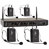 Malone Duet Quartet Fix V3 4-Channel UHF Wireless Microphone Set (50m, Pocket Transmitter, Energy-Efficient Design)