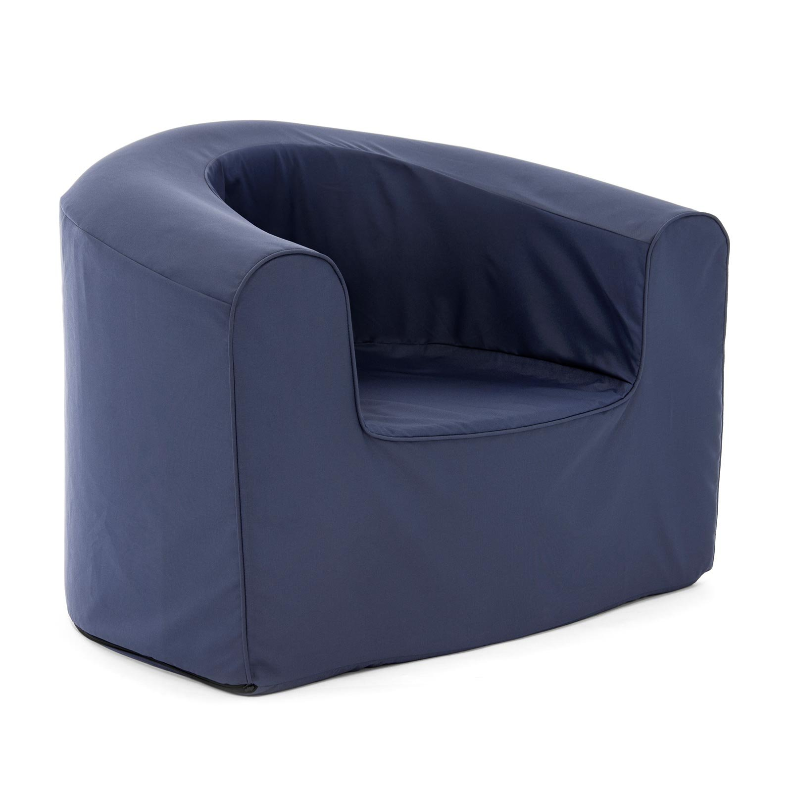 PopLounge Expandable Foam Furniture Armchair, Crown Blue Navy, 35'' x 28'' x 26''