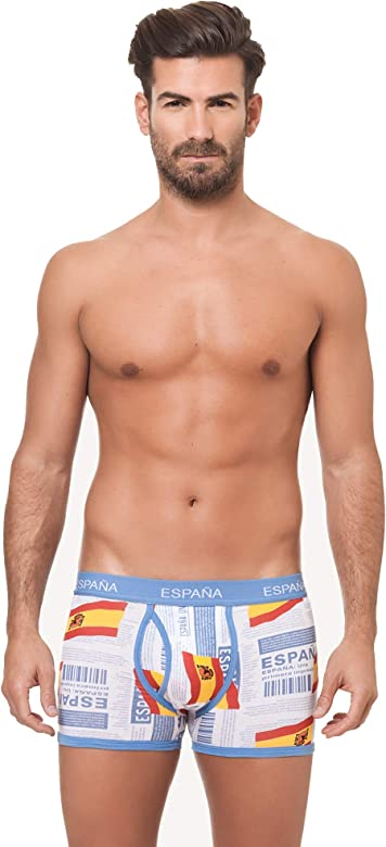 Channo Pack de 4 - Calzoncillos Boxer algodón Goma elástica ...