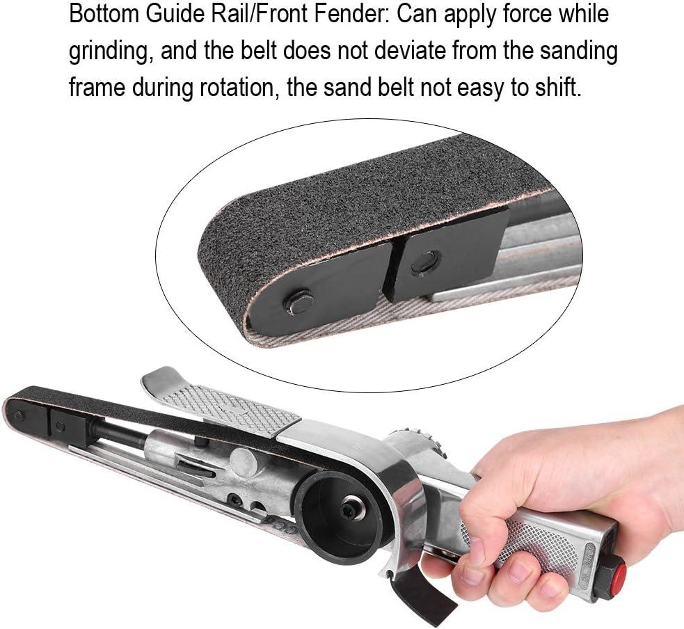 20mm 1//4inch Air Inlet Pneumatic Air Belt Sander Polisher Grinding Machine Tool