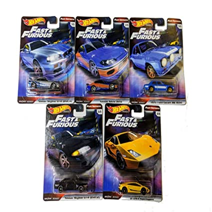 2019 Hot Wheels Fast /& Furious Fast Imports Premium 1//64 Set Of 5 Real Riders