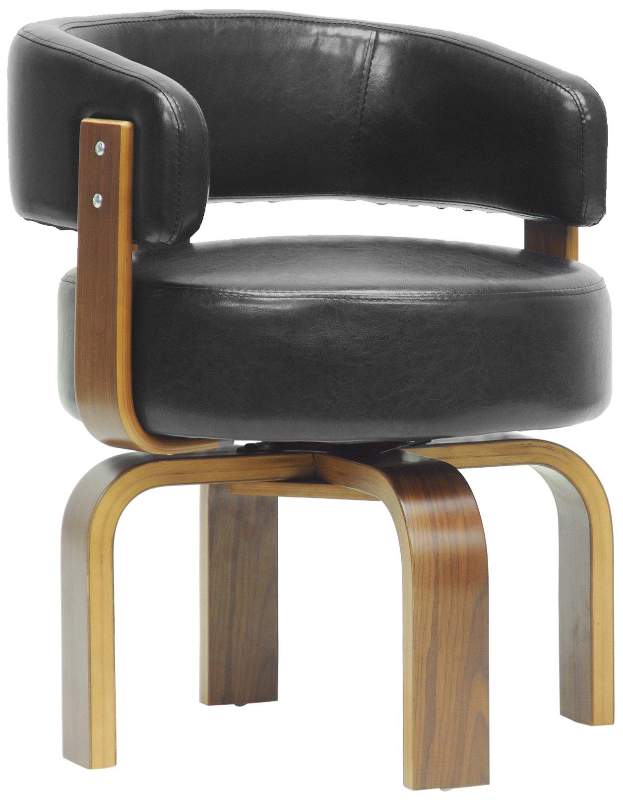 Baxton Studio Fortson Modern Accent Chair, Walnut/Black