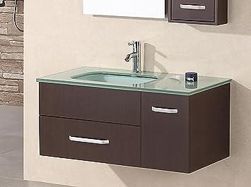 Design Element Christine Wall Mount Single Sink Vanity Set 35 Inch