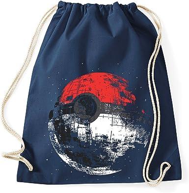 trvppy algodón Turn Bolsa/Modelo Poke Ball Estrella de la Muerte/EN muchos distintos. Colores/bolsa mochila yute Bolsa Bolsa de deporte bolsa Fashion Hipster, color azul marino, tamaño Talla única: Amazon.es: Ropa y accesorios