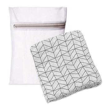 Amazon.com: Manta para bebé geométrica de línea negra con ...