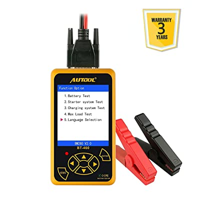 AUTOOL BT-460 12V/24V Auto Battery Load Tester: Home Improvement