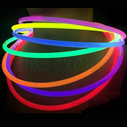Glow Stick Party Favors Supply Glow Sticks Bulk in Assorted Colors 4 inch Glowsticks Pack 50 Count