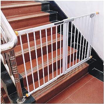 AZWE Barandilla de la escalera Barandilla Cierre automático Puertas de seguridad Caminar a través de la