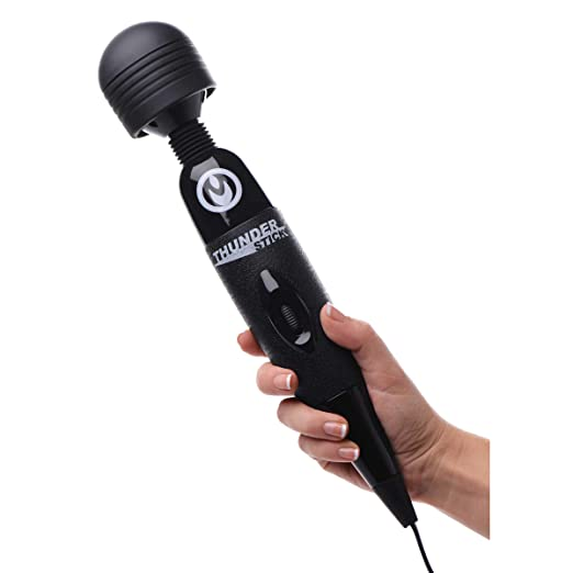 The Thunderstick Supercharged Wand Massager  Black