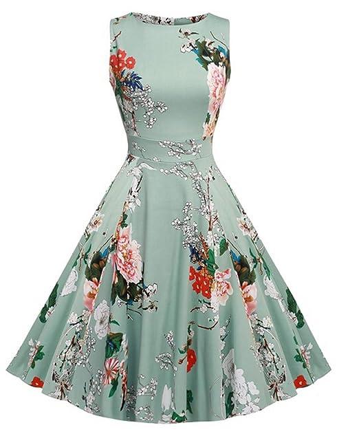 Vestido de coctel, primavera, para fiestas al aire libre estilo Vintage de los 1950