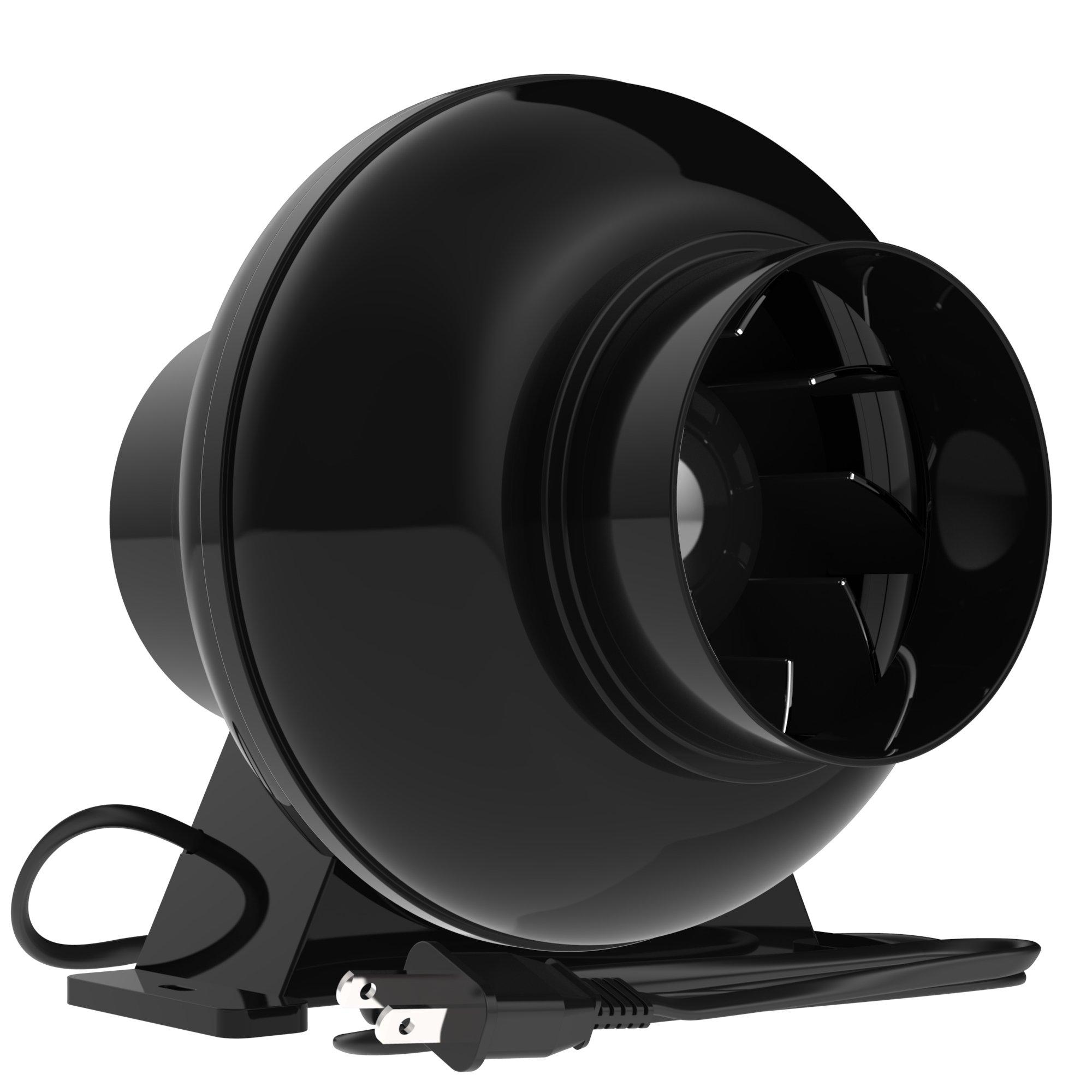 VIVOSUN 4 Inch 195 CFM Inline Duct Ventilation Fan Vent Blower for Grow Tent