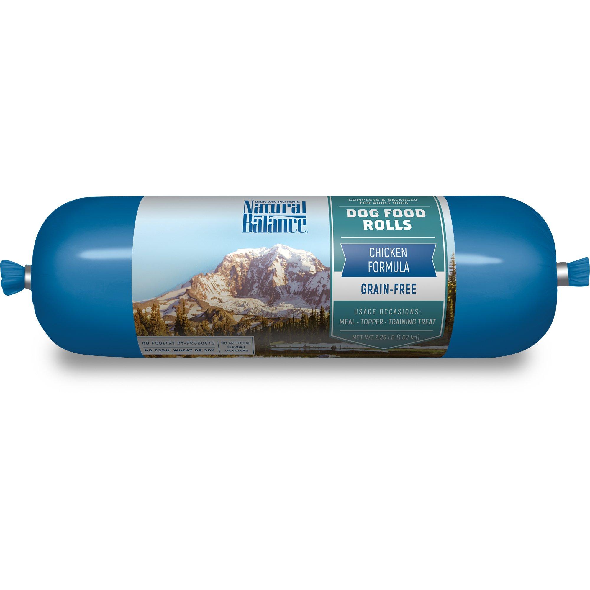 Amazon.com : Natural Balance Chicken Formula Dog Food Roll, 2.25 lb ...