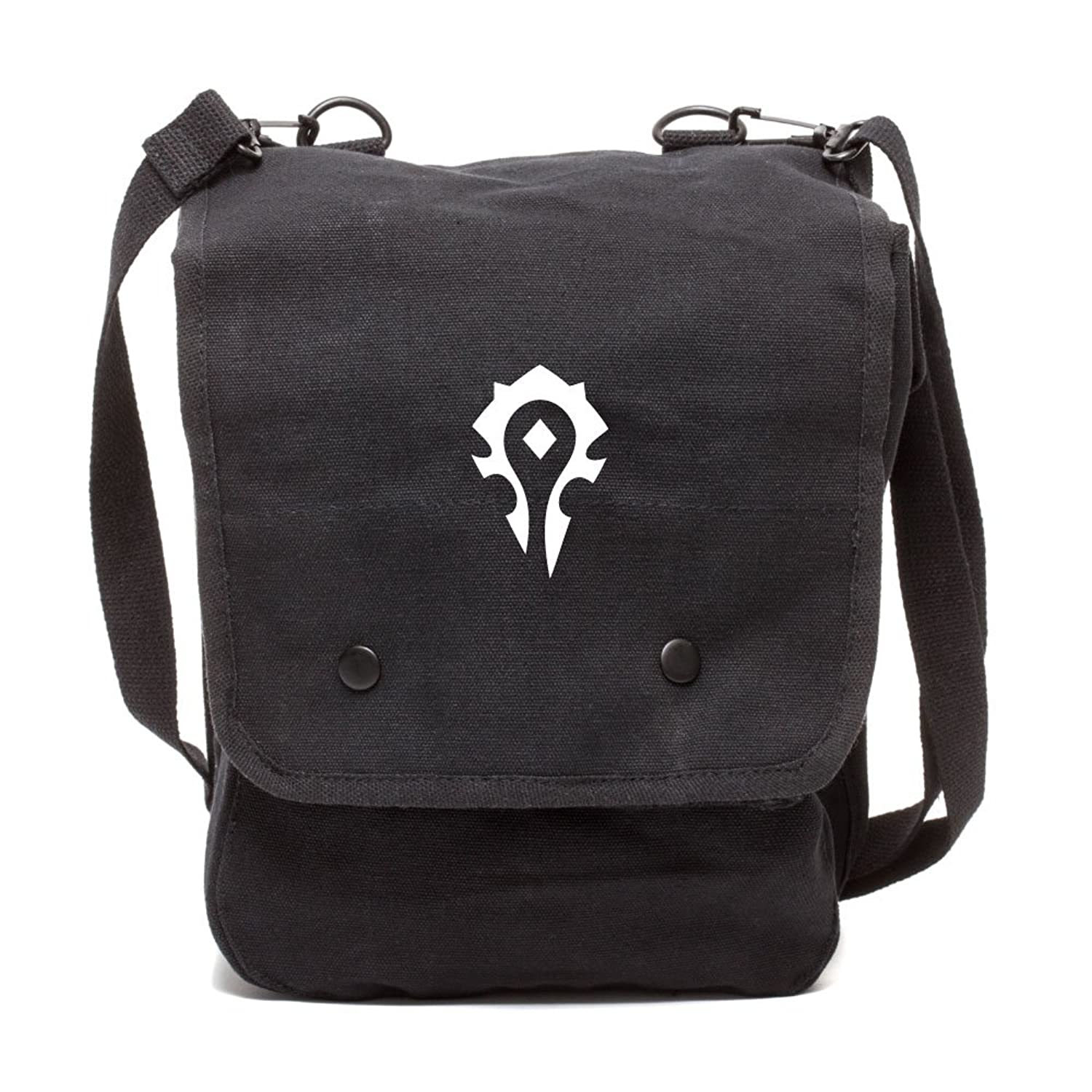 World of Warcraft Horde Canvas Crossbody Travel Map Bag Case