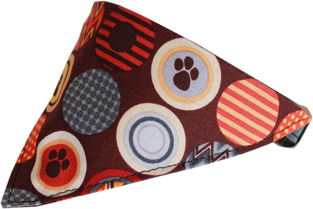 Mirage Pet Products Fall Paw Bandana Pet Collar, Black, Size 20 by Mirage Pet Products