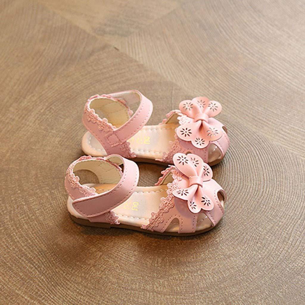 Enfants Filles Floral Bowknot Sandales Toddler Summer Princess Chaussures Casual Single Chaussures Nouveau Moonuy Nouveau-n/é Dentelle Fleur Sandales