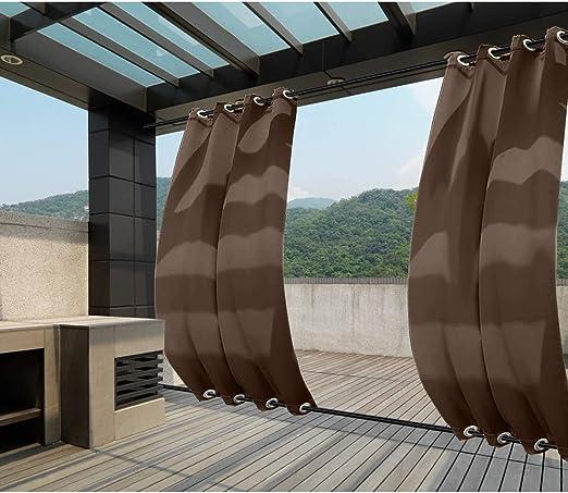 132x275cm marrón Cortinas para Exteriores con Ojales, Resistentes al Viento, Resistentes al Agua, Resistentes a la harina, para jardín, balcón, casa de Playa, vestíbulo, Cabana: Amazon.es: Jardín