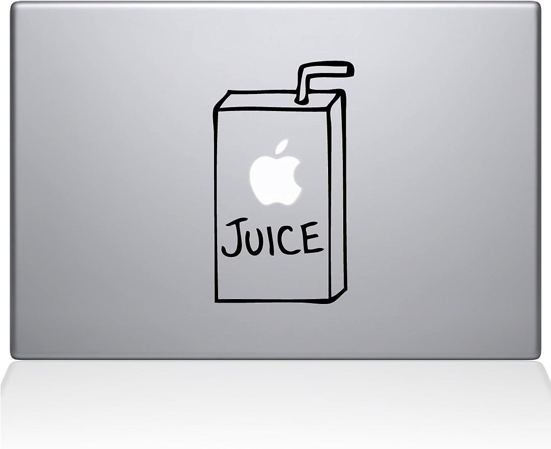 "The Decal Guru 1008-MAC-13X-BLA Apple Juice Vinyl Sticker, 13"" Macbook Pro (2016 & newer), Black"