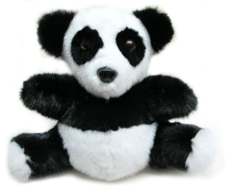 Mink Fur Panda H:10 Inches