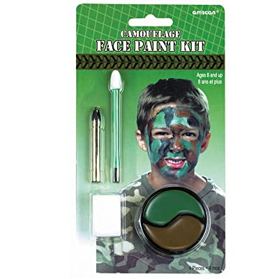 amscan Camouflage Face Paint (Each): Clothing